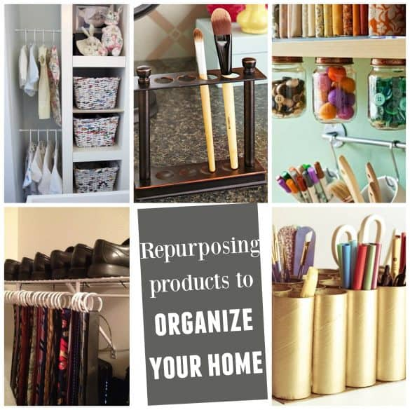 DIY HOME ORGANIZATION repurpose products to organize your home