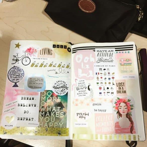 Bullet journal dream board