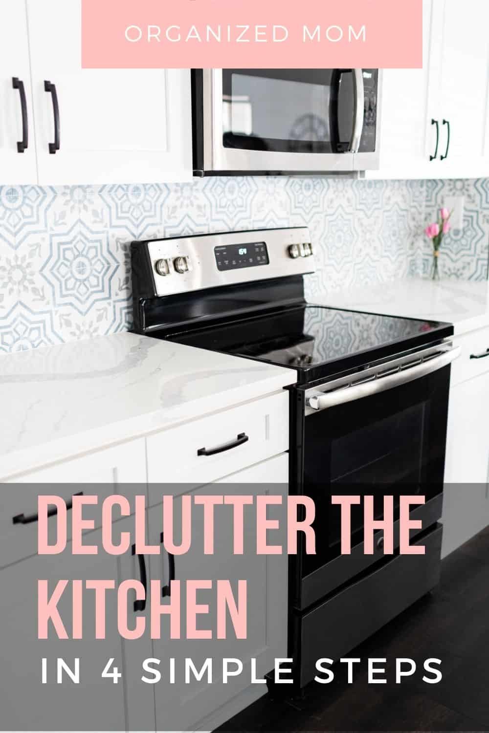 declutter the kitchen simple steps
