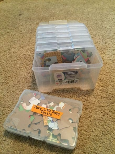 Compact Storage for Jigsaw Puzzles