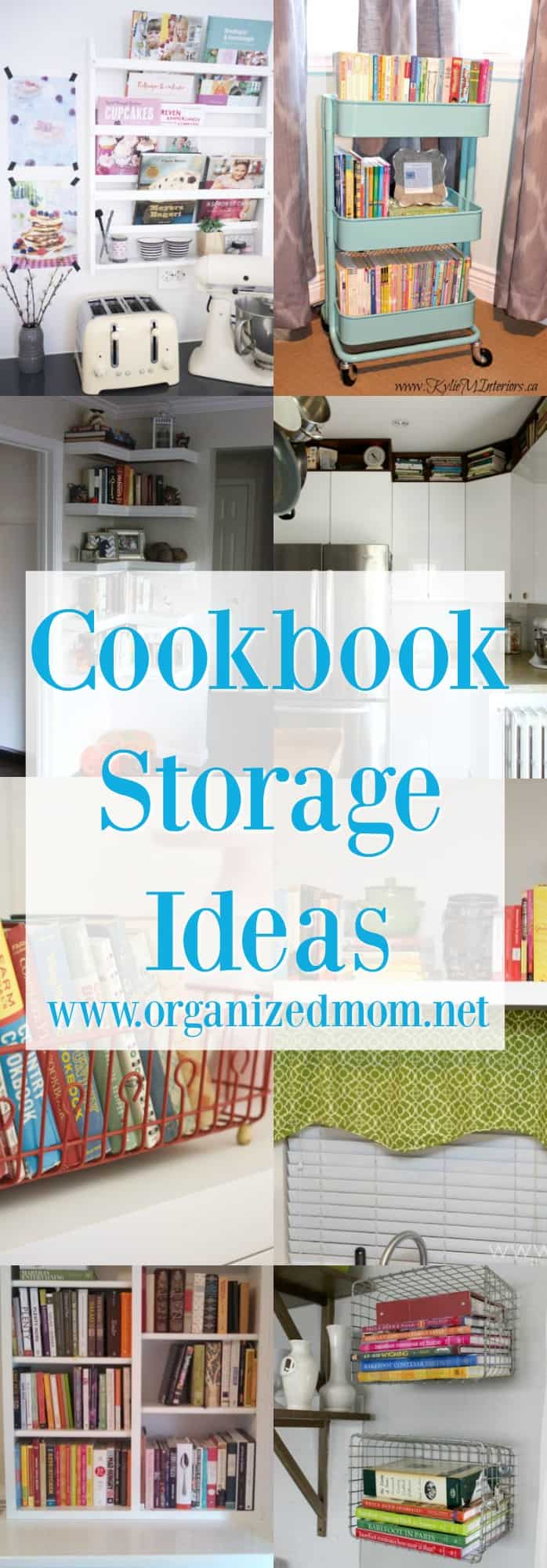 Home Decor - Storing cookbooks for organization, if you don't want to get rid of ANY!