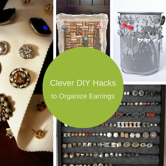 7 Clever Diy Earring Holder Ideas To Organize Your Earrings The Organized Mom