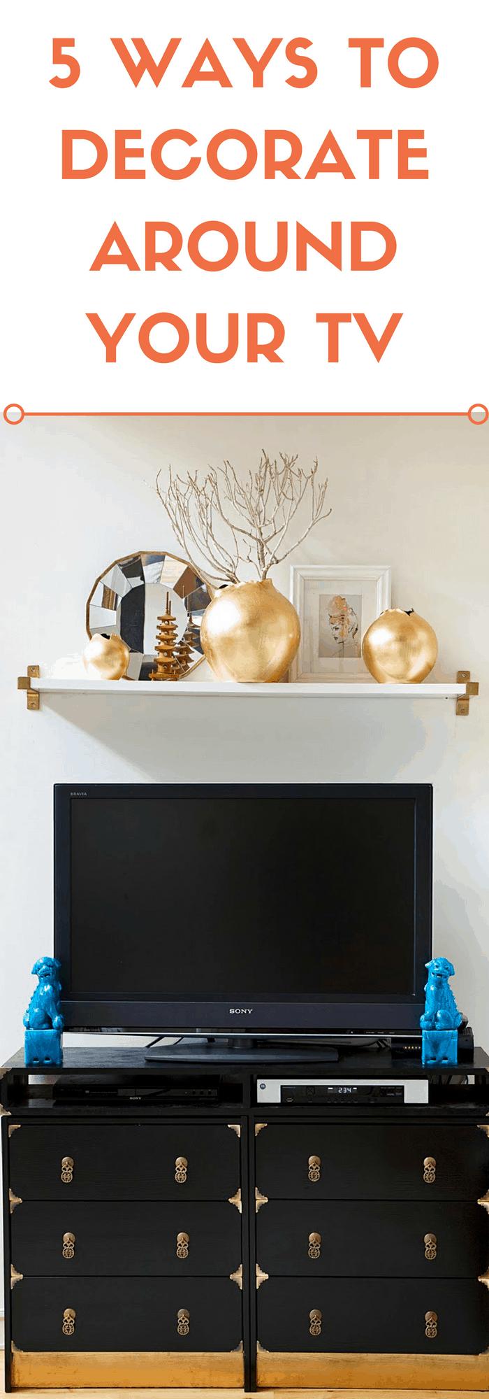 5 ways to decorate around your tv