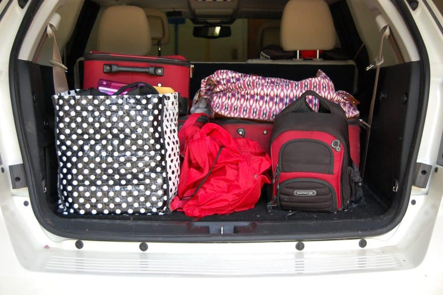 stay organized while on a road trip