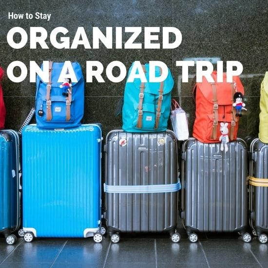 stay organized on a road trip