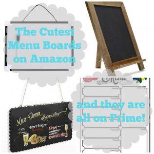 The cutest menu boards on amazon