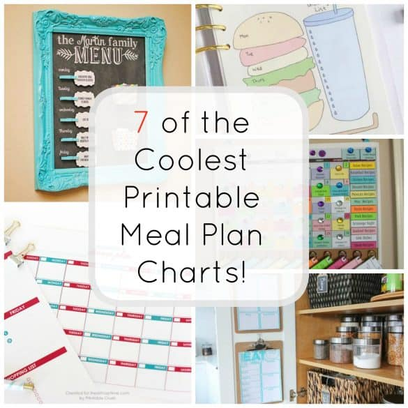 Home and DIY - 7 of the coolest printable meal plan charts