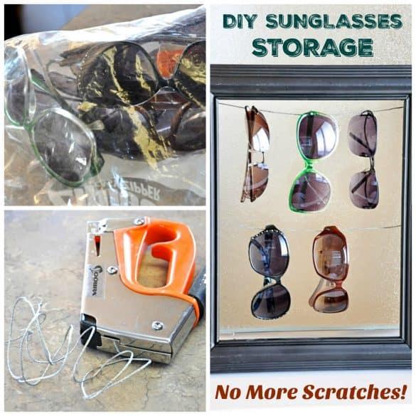 DIY Sunglasses storage solution