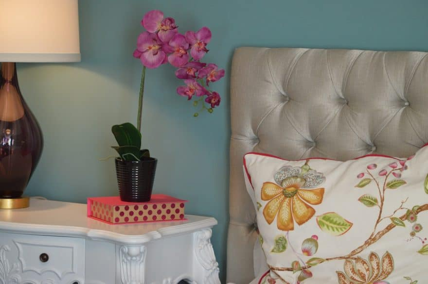 flowers on the nightstand, orchids