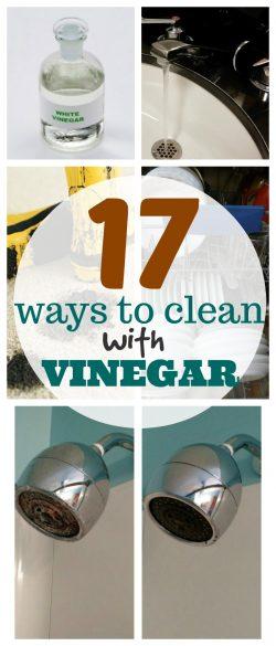 ways to clean with vinegar