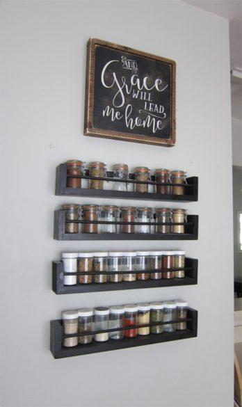 spice rack wall display