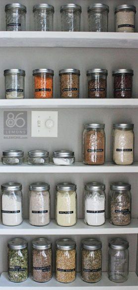 pantry storage in jars