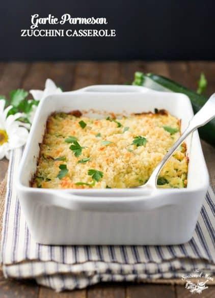 garlic parmesan zucchini casserole