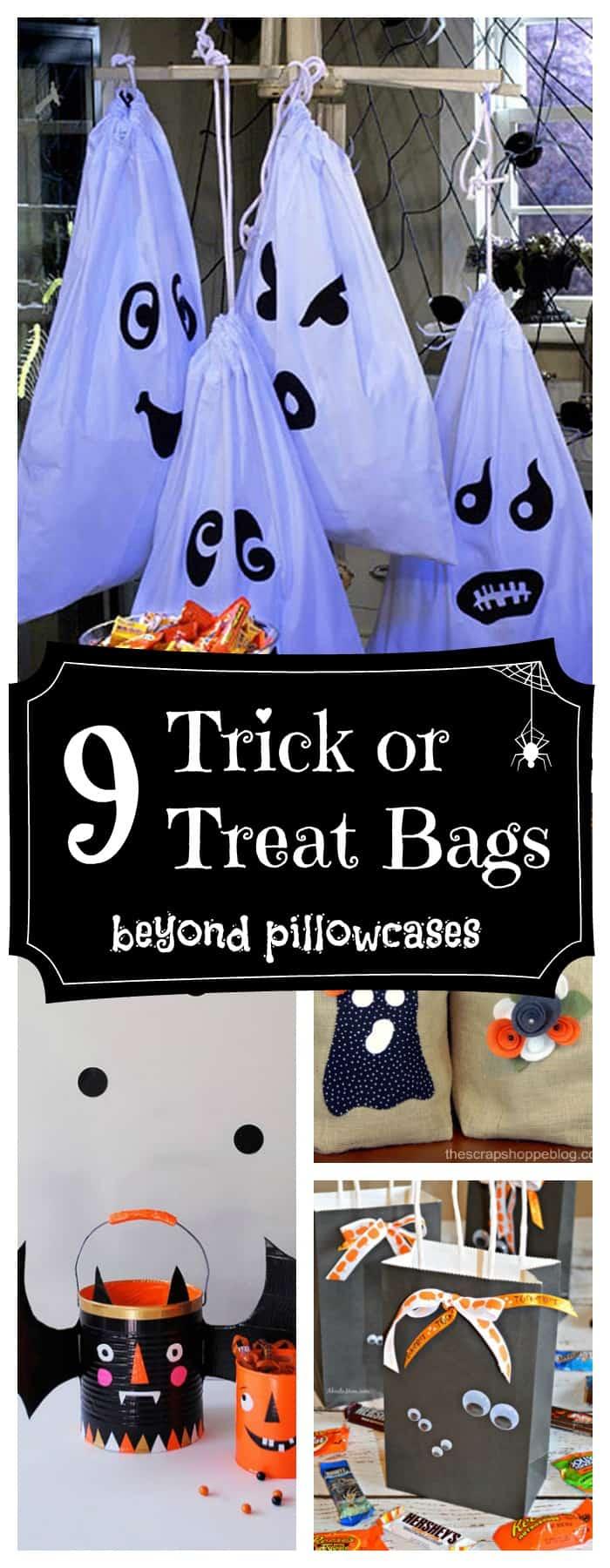 DIY Trick or treat bags - more than pillowcases