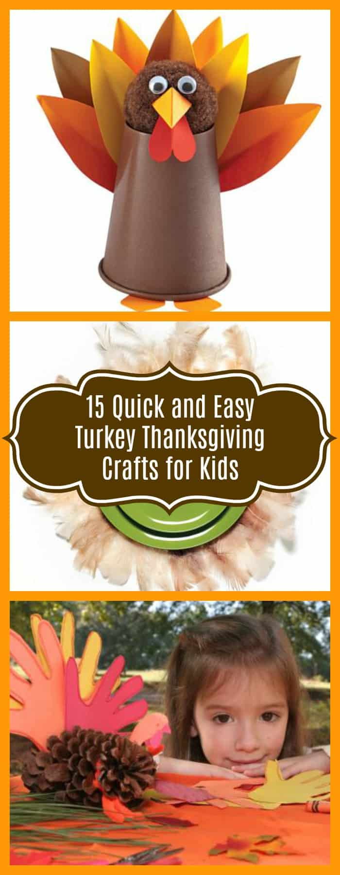 Crafts-15 Quick and Easy Turkey Thanksgiving Crafts for Kids-The Organized Mom