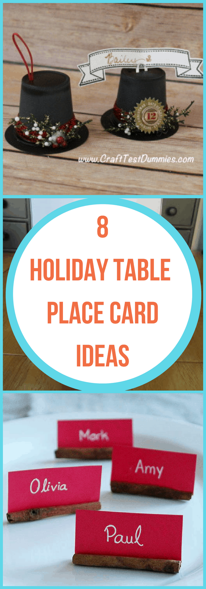 8 Holiday Table Place Card Ideas The Organized Mom