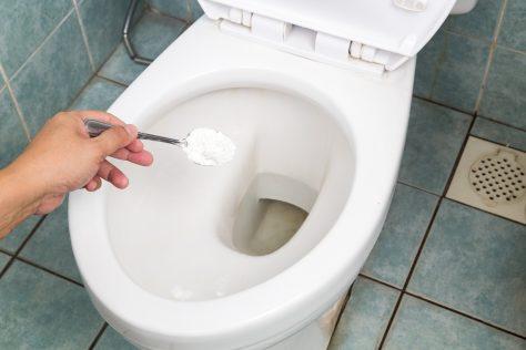 baking soda in toilet