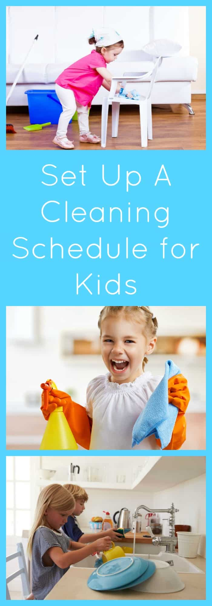 Kids--Set Up A Cleaning Schedule for Kids--The Organized Mom