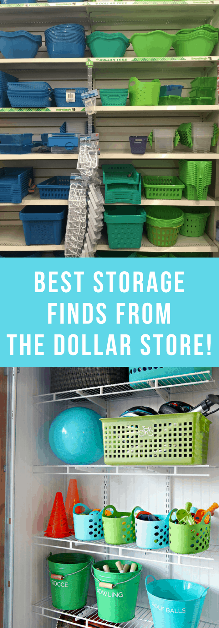 Organization--Best Storage Finds from the Dollar Store--The Organized Mom