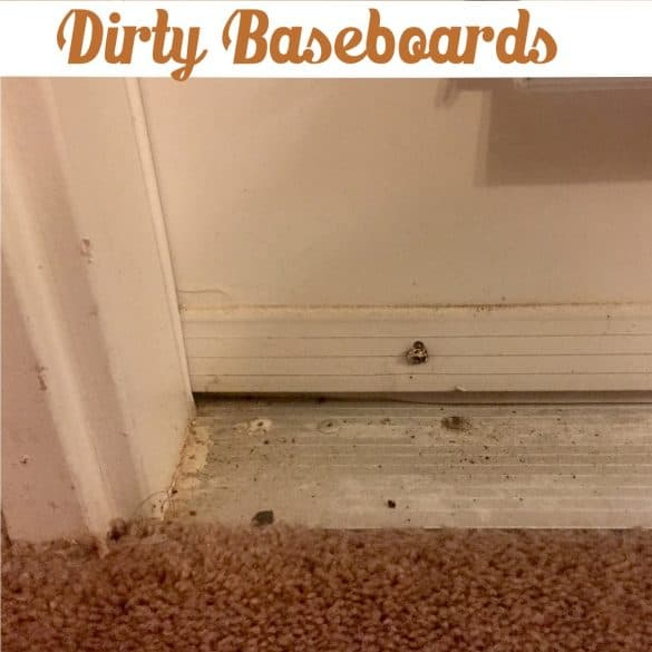 How to clean dirty baseboards