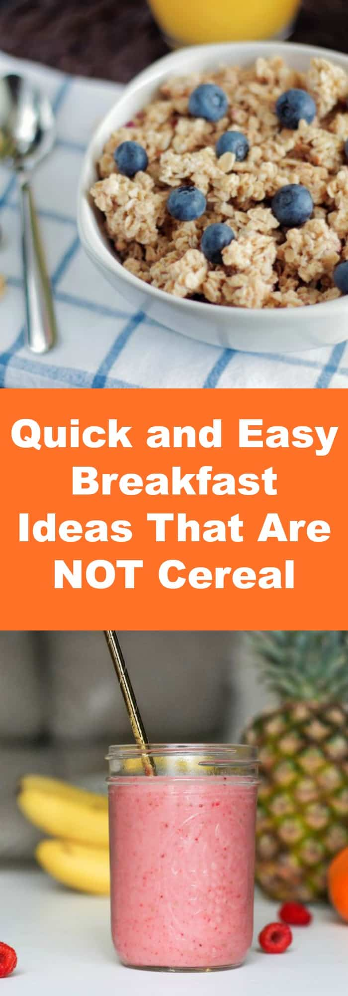 Breakfast--Quick and Easy Breakfast Ideas That Are NOT Cereal--The Organized Mom