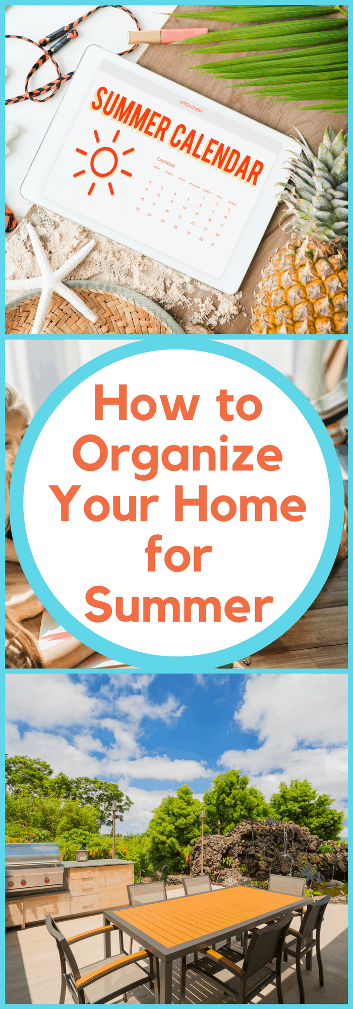 Organization--How to Organize Your Home for Summer--The Organized Mom