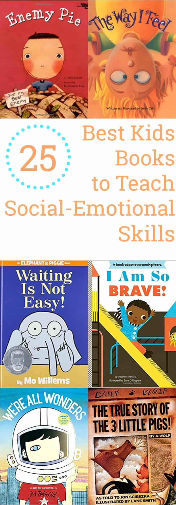 Parenting--25 Best Kids Books to Teach Social-Emotional Skills--The Organized Mom