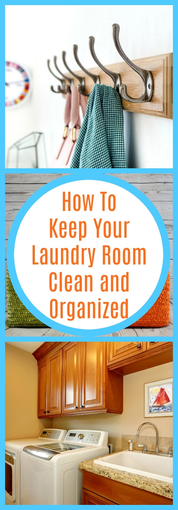 Organization--How to Keep Your Laundry Room Clean and Organized--The Organized Mom