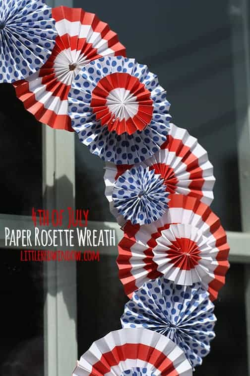 paper rosette wreath