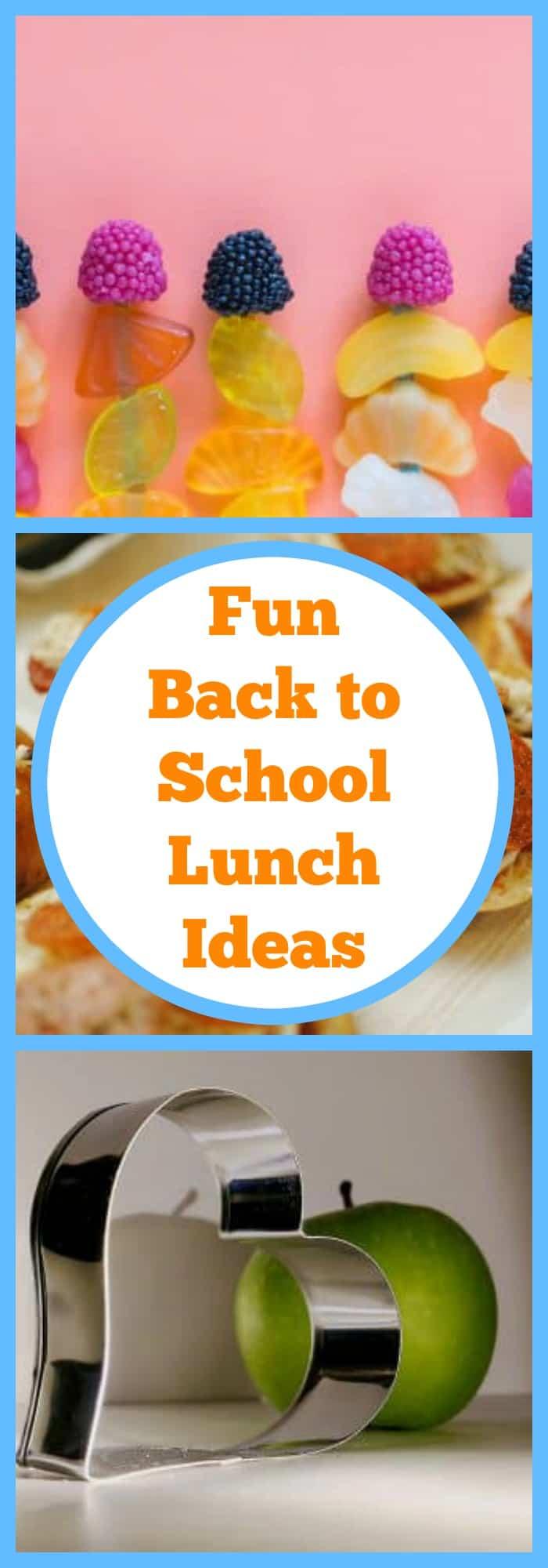 Fun Back to School Lunch Ideas