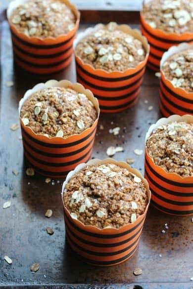apple cinnamon blender muffins