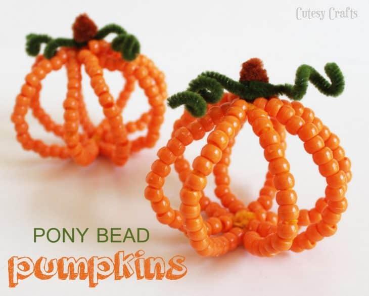 pony bead pumpkins