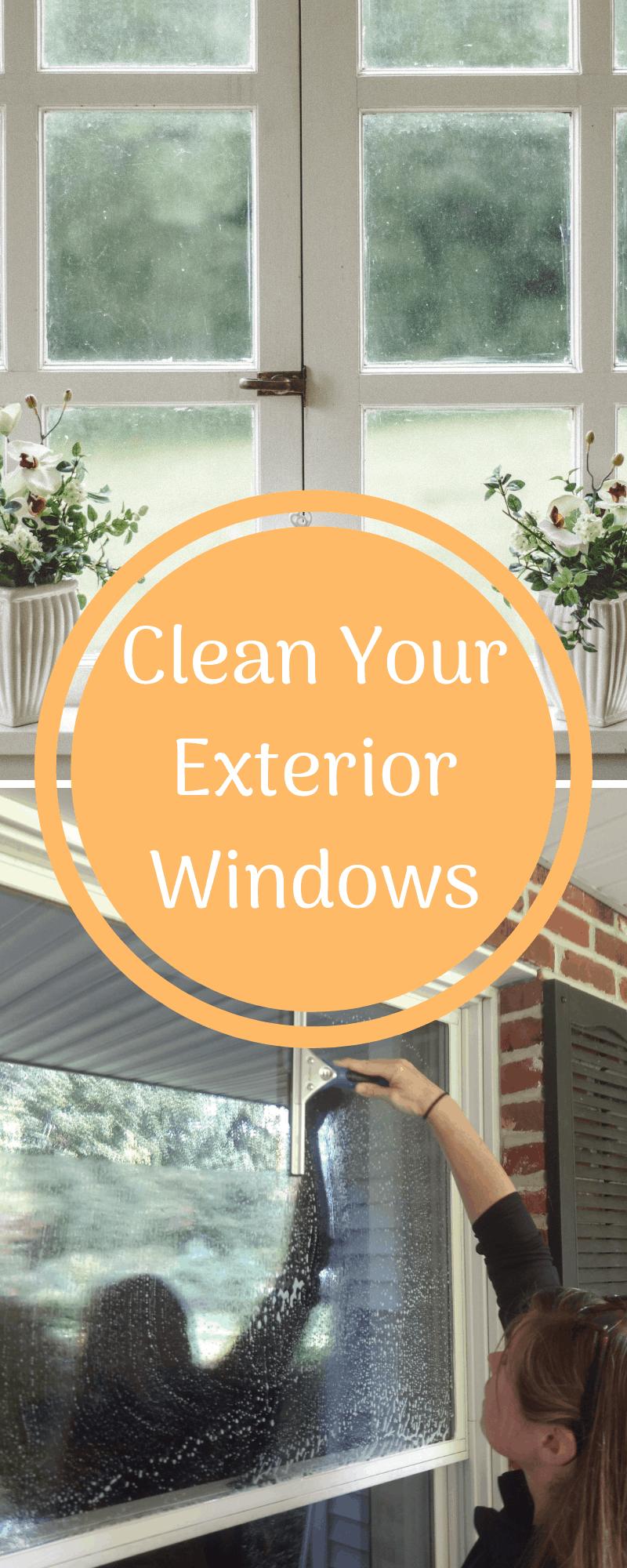 clean exterior windows