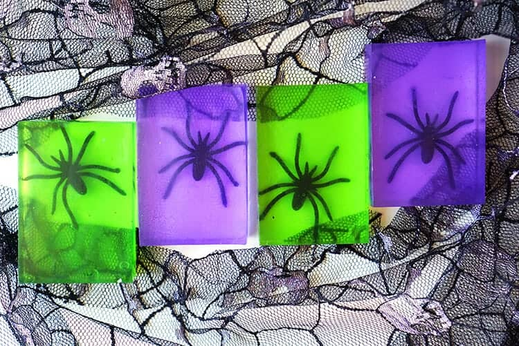 spooky spider soap