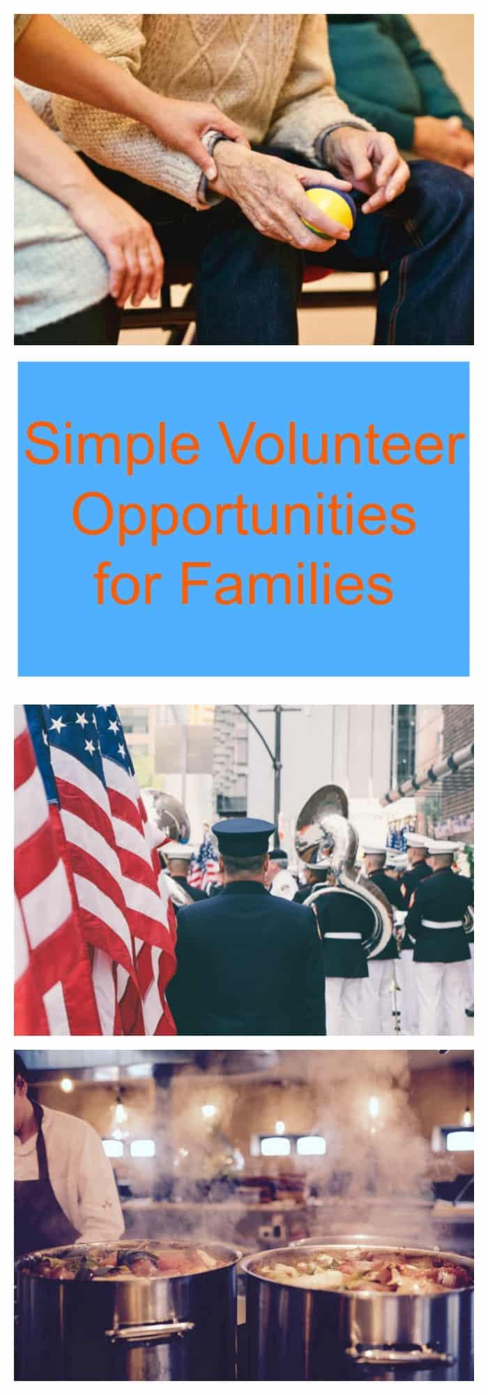 volunteer opportunities for families