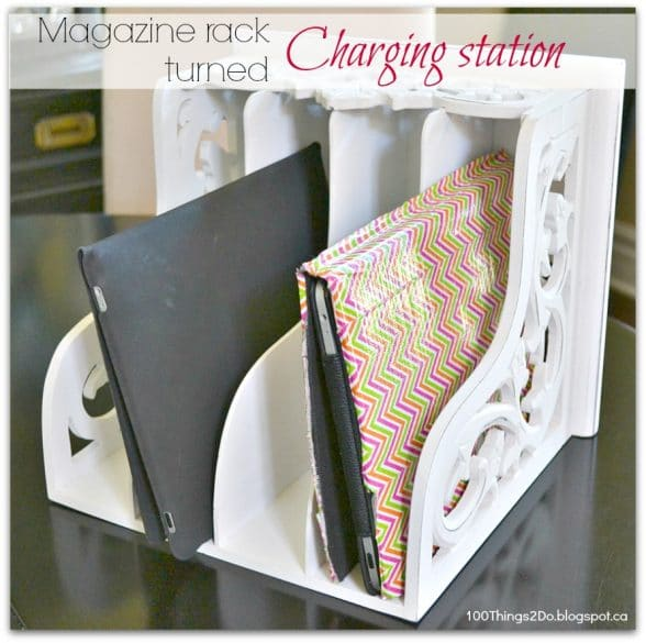 magazine rack electronic organization