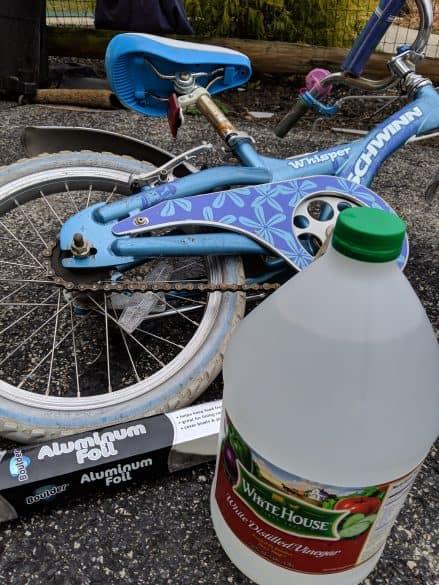 clean rusty bike