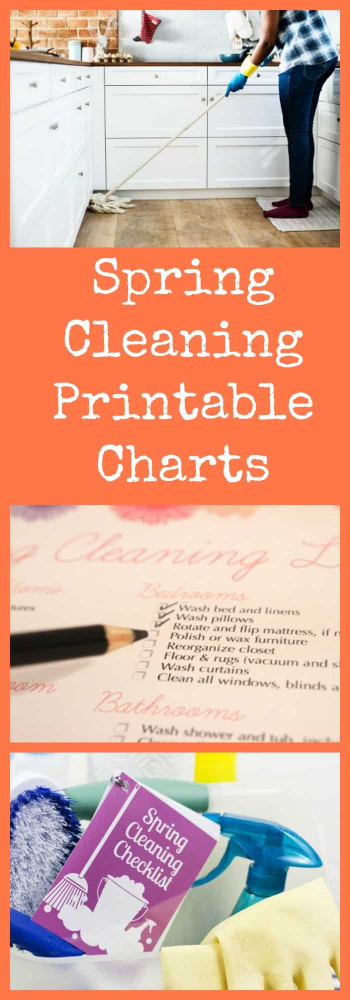 Spring Cleaning Printable Charts