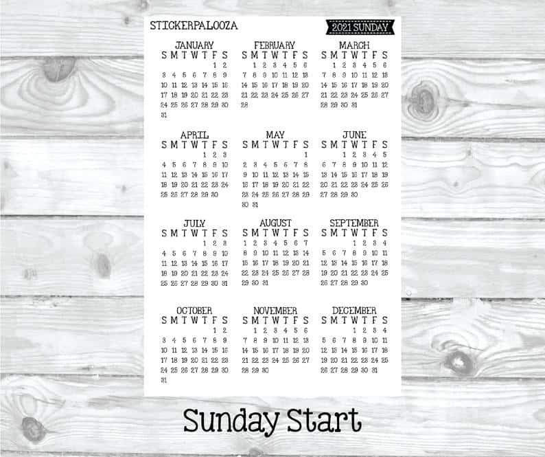 bullet journal month sticker