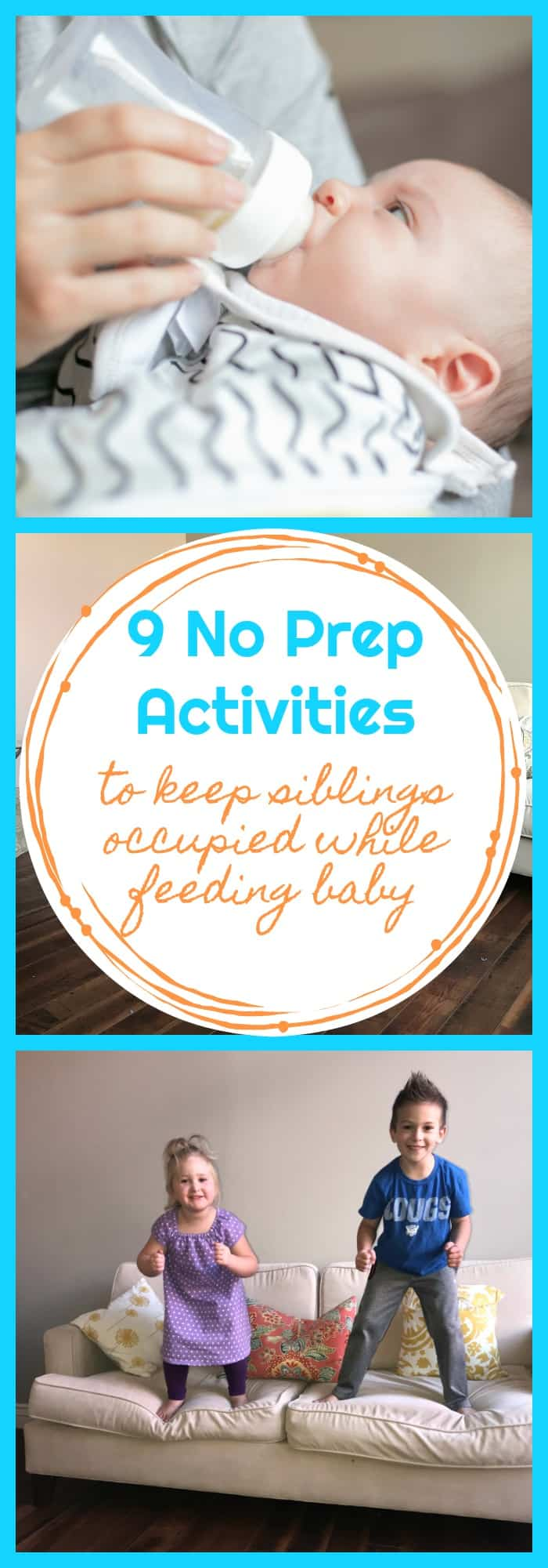 9 No Prep Activities to keep siblings occupied while feeding baby