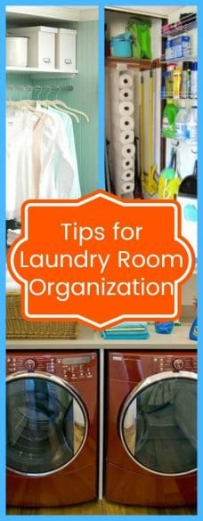 Tips For Laundry Room Organization