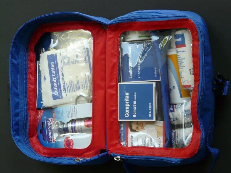 first aid kit car organization