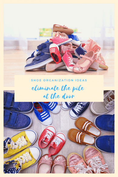 Shoe Organization Ideas--Eliminate the Pile at the Door