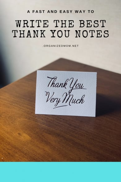 A Fast and Easy Way to Write the Best Thank You Notes