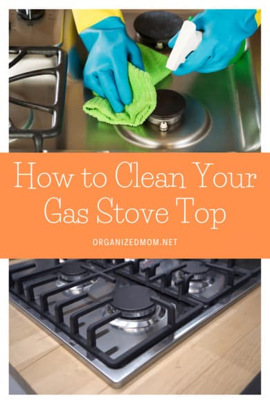 how to clean your gas stove top