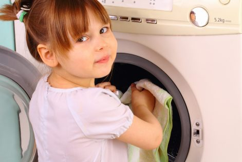 how to get kids to help sort laundry