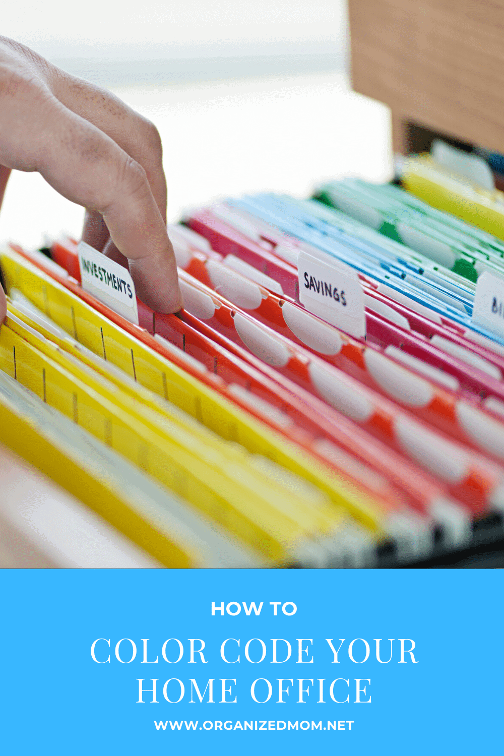 color code your home office