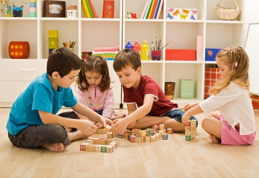 children playing with blocks toys organizing ideas