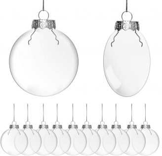 clear glass ornaments for DIY Christmas