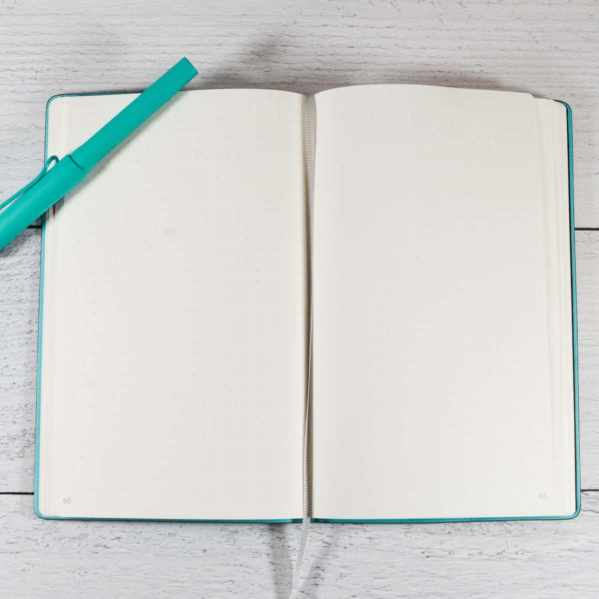blank bullet journal